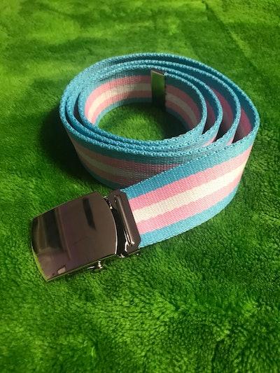 Transgender Pride Belt Slip-Buckle