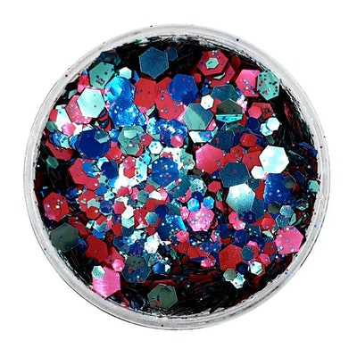Biodegradable Blue, Turquoise & Pink Festival Glitter