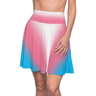 Transgender Pride Flag Skater Skirt