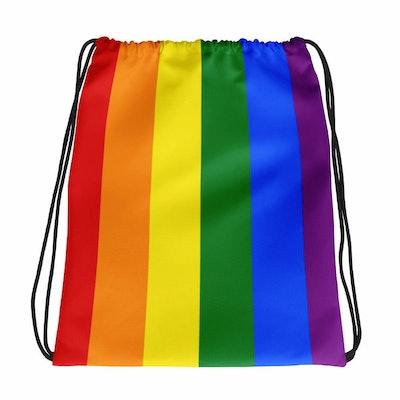 Rainbow Gay Flag Drawstring Bag