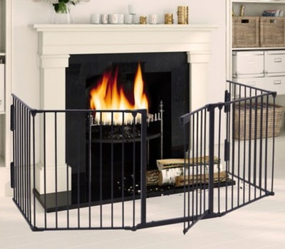 Jaxpety Fireplace Fence Baby Safety Fence Hearth Gate