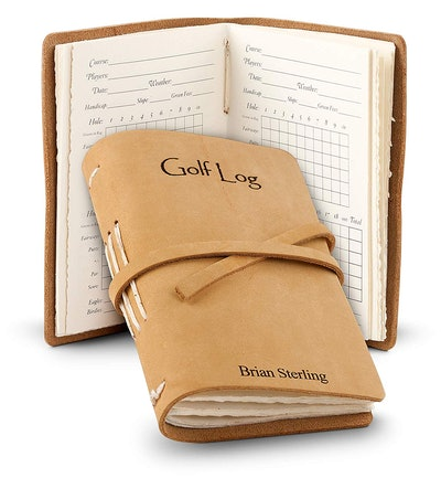 Leather Bound Golf Log Journal