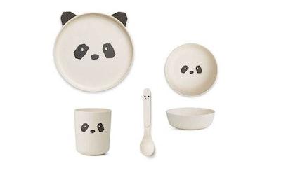 Liewood Bamboo Tableware Panda Giftset