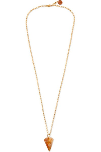 Sirconstance Gold-Plated Citrine Necklace