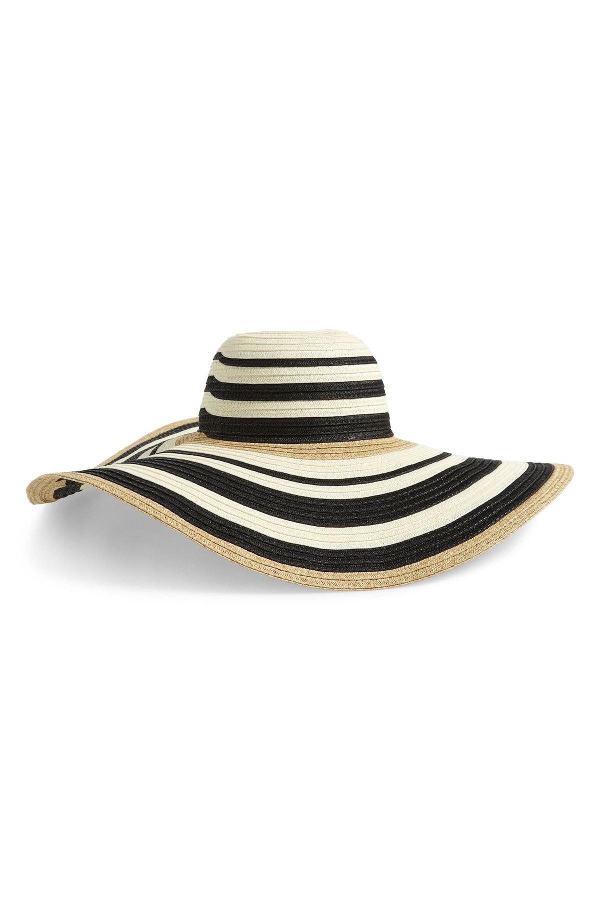Modern Stripe Floppy Hat