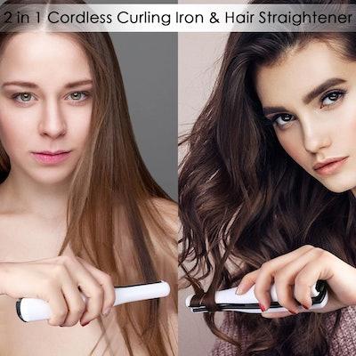 Gospire Mini Portable Hair Straightener & Curling Iron