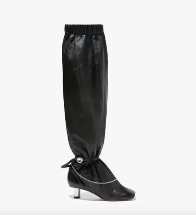 Over the Knee Slouch Boots in Black