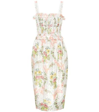 Brock Collection Palmira Floral Silk-Blend Dress