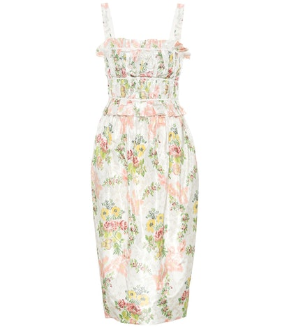 Brock Collection Palmira Floral Silk-Blend Dress