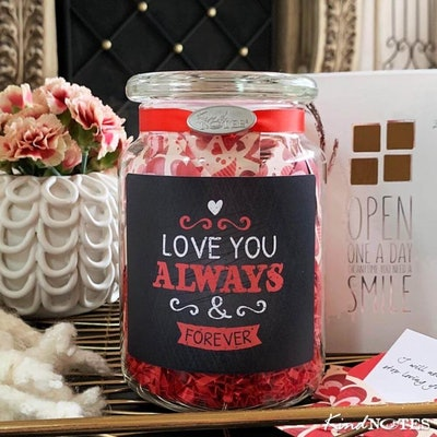 Love You Always Jar of Notes