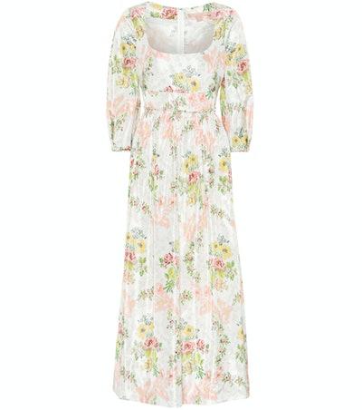 Brock Collection Ondina Floral Taffeta Midi Dress