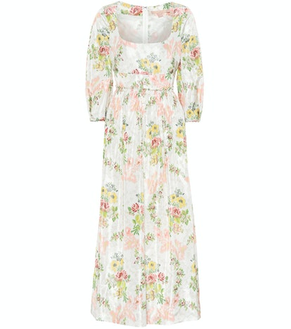 Brock Collection Ondina Floral Taffeta Midi Dress