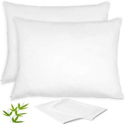 Vegan Silk Bamboo Pillow Cases (2 Pack)