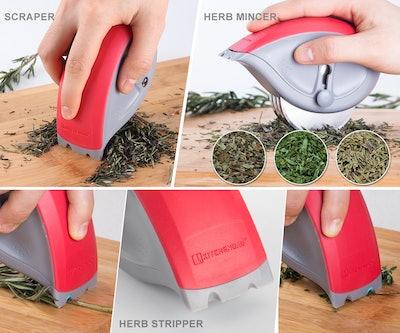KITCHENDAO 3-In-1 Herb Mincer