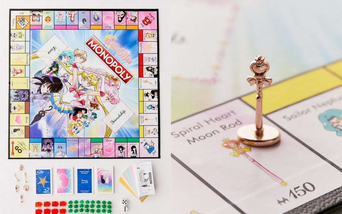 This Sailor Moon Monopoly Board From Urban Outfitters Is A Sparkly Pink '90s Baby Dream
