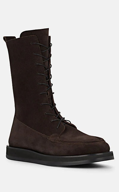 The Row Patty Suede Ankle Boots