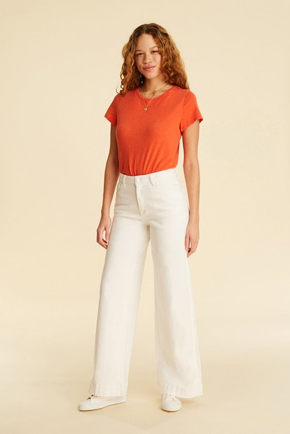NCE Wide Leg in White