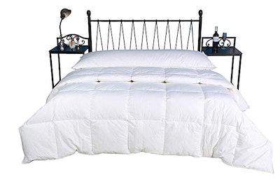 Eastwarmth Luxury Bedding White Goose Down Comforter