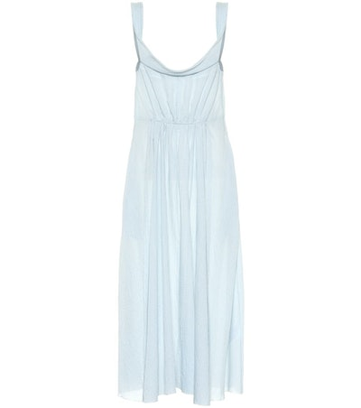 Brock Collection Davi Gingham Cotton Midi Dress