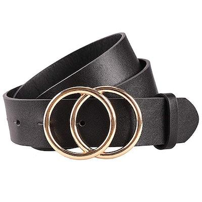Earnda Women's Soft Faux Leather Belt