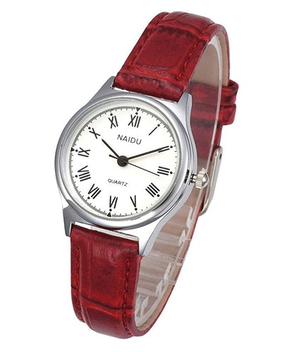 Top Plaza Women's Leather Watch