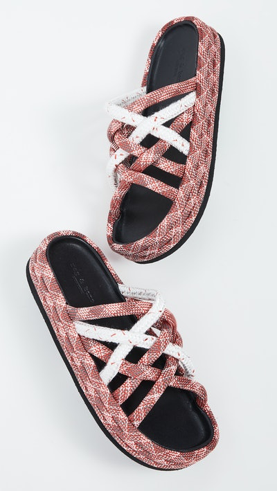 Kris Espadrille Slide Sandals