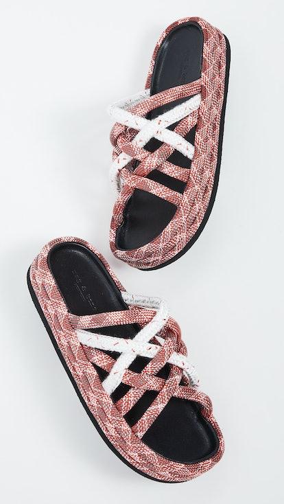 Kris Espadrille Slide Sandals