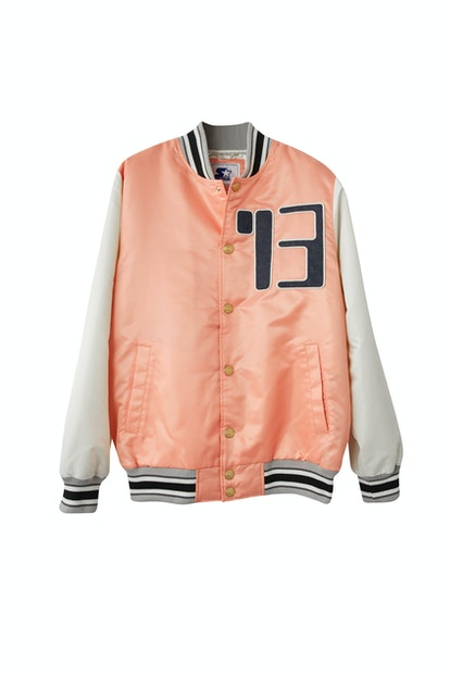 Varsity jacket pale pink