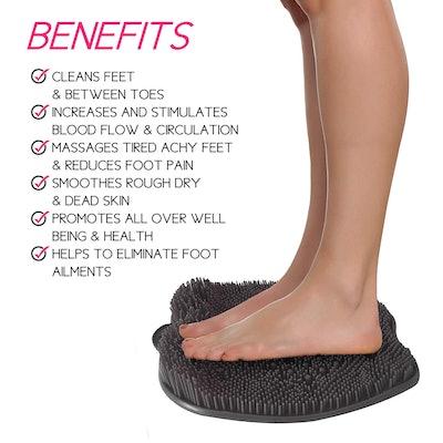 LOVE, LORI Shower Foot Massager & Cleaner