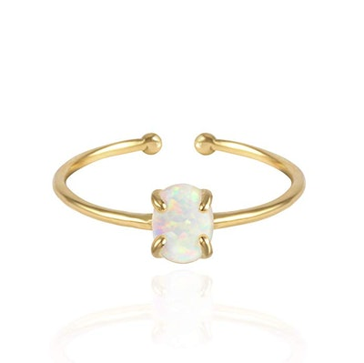 Musthave 14K Rose Gold Plated Opal Ring
