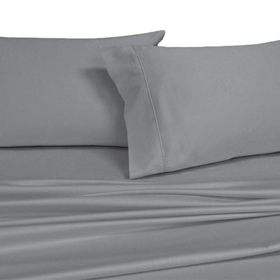Royal's Solid Gray 1000 Thread Count Split King Sheets