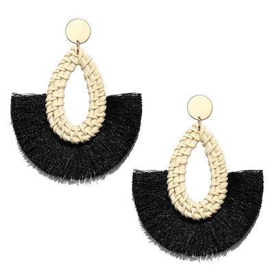 Seni Rattan Tassel Earrings