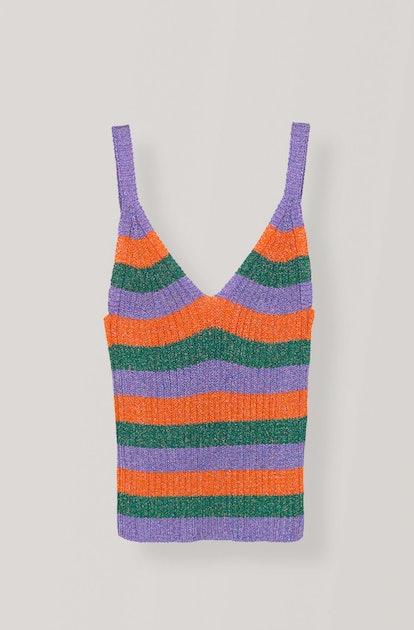 Lurex Striped Knit Top
