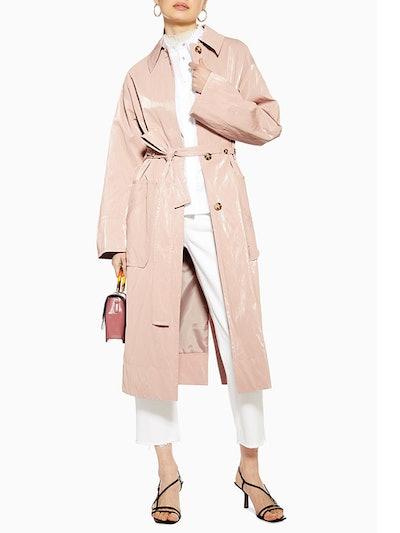 Pink Vinyl Coat