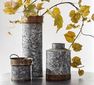 Galvanized Vases