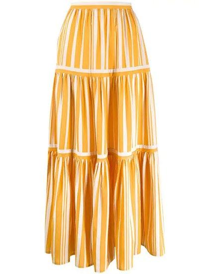 Pleated Maxi Skirt