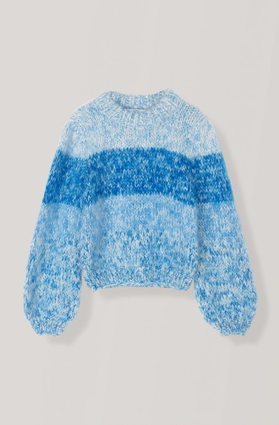 Hand Knit Wool Puff Sleeve Pullover