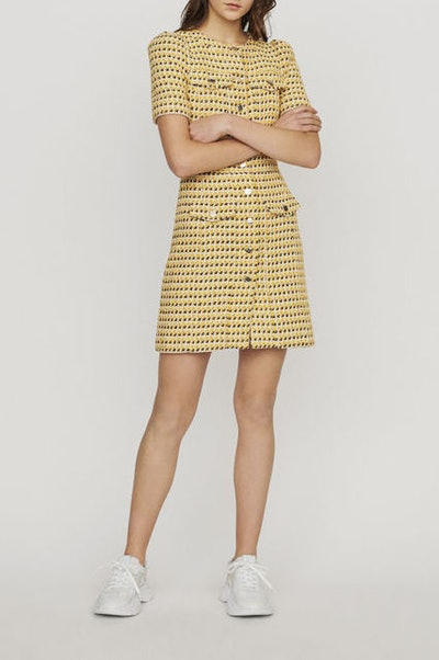 Short Dress In Tweed And Lurex
