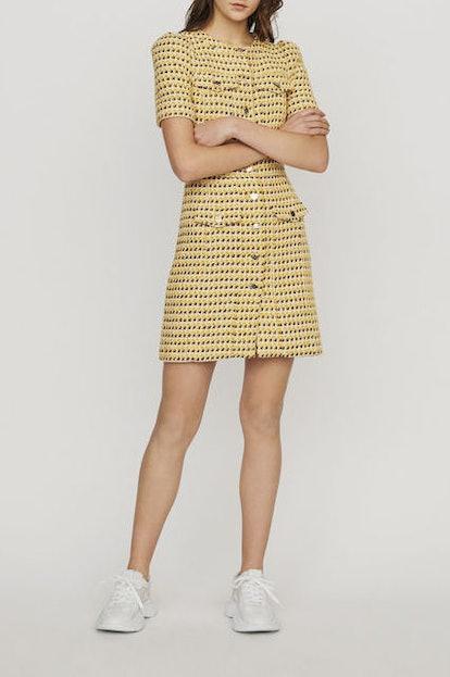 Short Dress In Tweed And Lurex