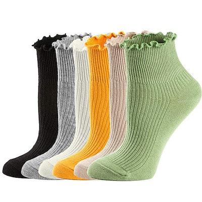 McCool Mary Ruffle Low Cut Socks (6 Pack)