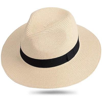 Maylisacc Wide Brim Straw Panama Hat
