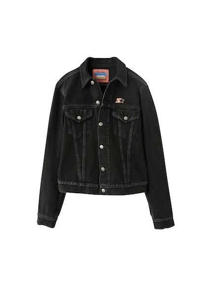 Denim jacket used black