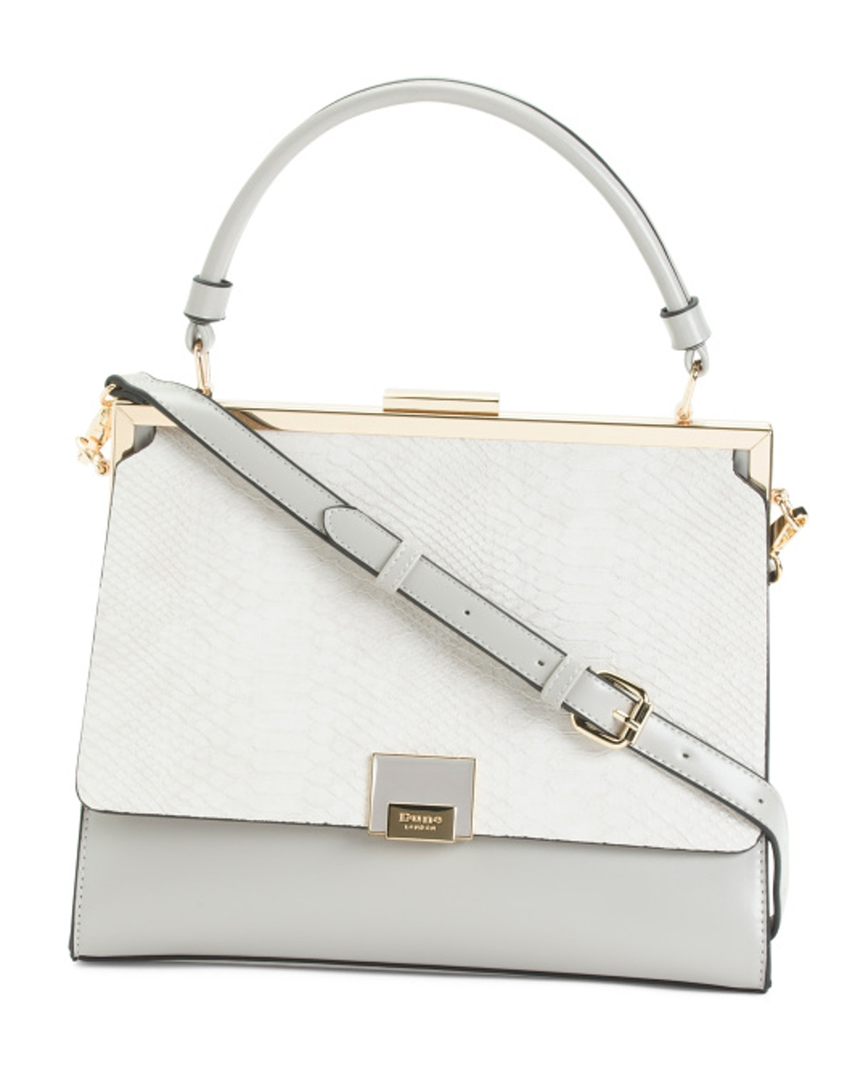 DUNE LONDON Satchel With Reptile Flap And Top Handle