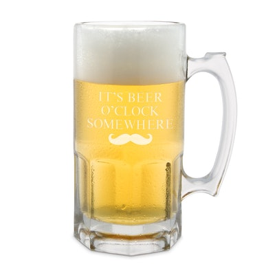 34 OZ Glass Beer Super Mug
