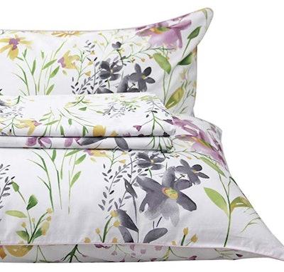 Queen's House Romantic Garden Floral Bed Sheet