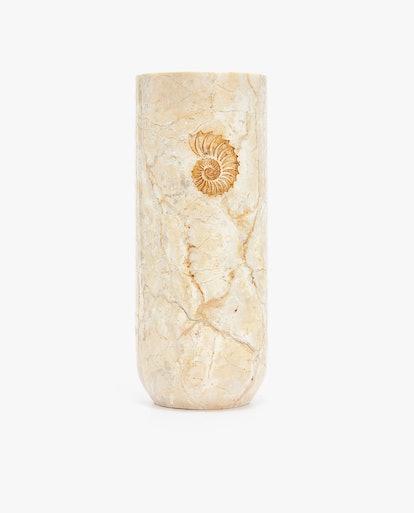 Marble Fossil Vase
