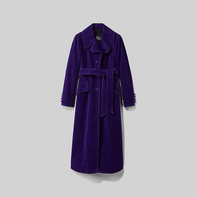 The Velveteen Fit And Flare Coat