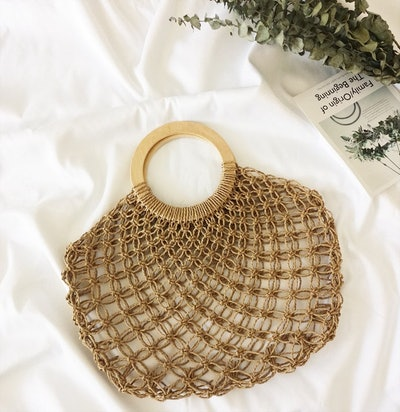 Handmade Straw Woven Bag