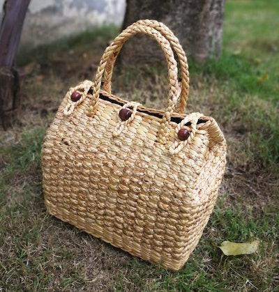 Natural Basket Handmade Straw Bag
