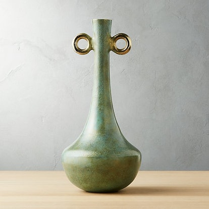 Penn Green Metal Vase